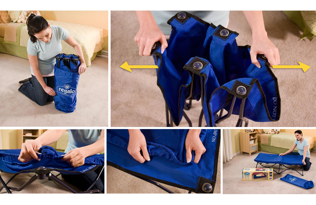Reglao Portable Toddler Bed Usage