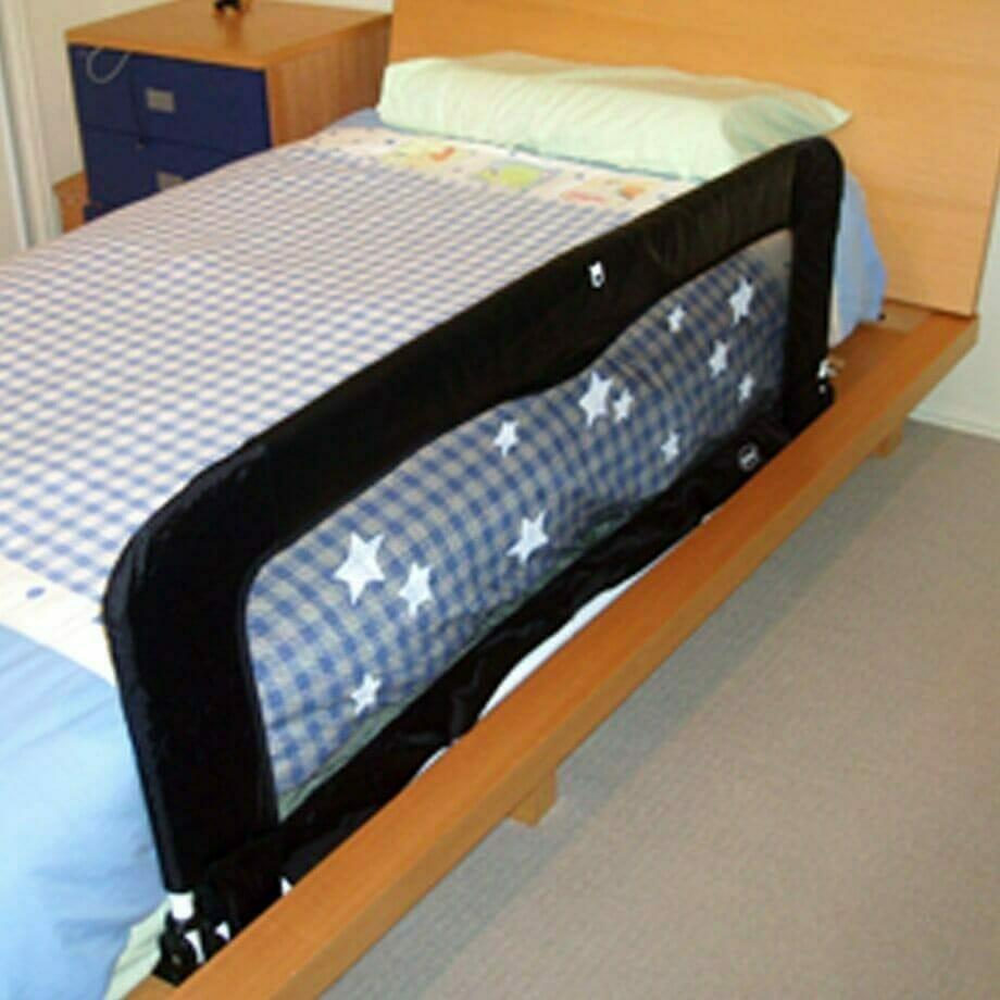 Babyhood Sleep Time Deluxe Bed Guard - Black & White Stars