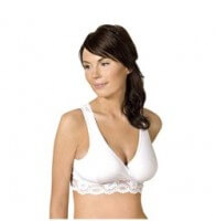 Carriwell Lace Nursing Bra White