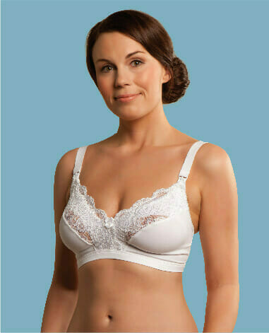 Carriwell Microfibre Lace Drop Cup Nursing Bra