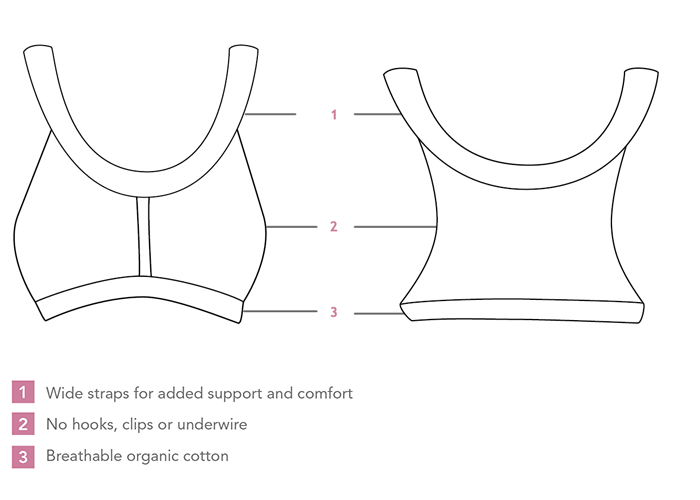 Carriwell Seamless Organic Cotton Comfort Bra Illustration