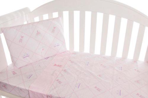 Amani Bebe Ballerina Princess 3pce Cot Sheet Set
