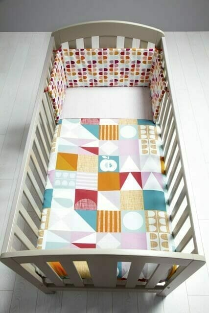 Mamas & Papas Patternology Geometric Cotbed Quilt Overhead