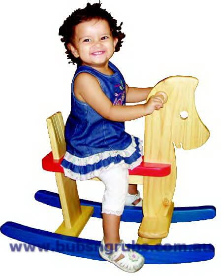 Timber Rocking Horse with Back support