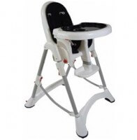 babyhood Tangy High Low Chair Black