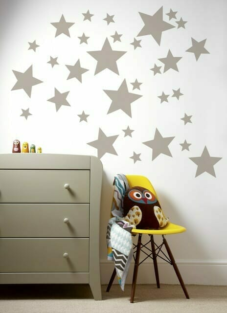mamas & Papas Patternology Metallic Stars Wall Stickers