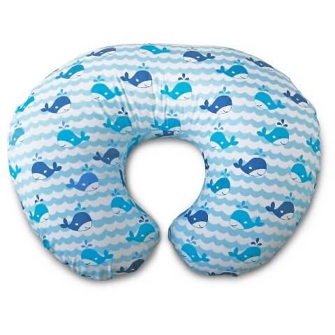 Boppy Pillow Blue Whales