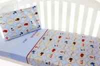 Amani Bebe Under Construction 3pce Cot Sheet Set