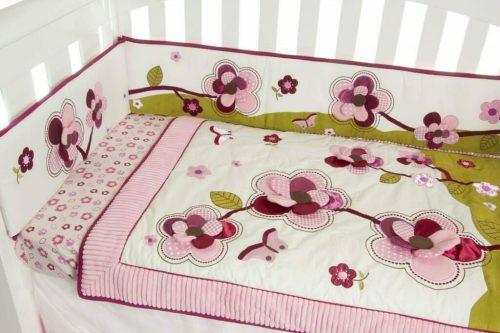 Amani Bebe Raspberry Garden Cradle Set