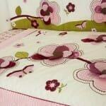 Amani Bebe Raspberry Garden Quilt & Bumper