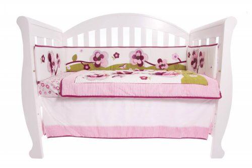 Amani Bebe Raspberry Garden 5 Piece Bedding Set