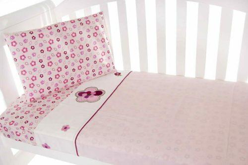 Amani Bebe Raspberry Garden Sheet Set
