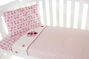 Amani Bebe Raspberry Garden 3pce Cot Sheet Set
