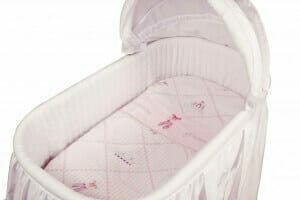 Amani Bebe Raspberry Garden 3pce Bassinet Sheet Set