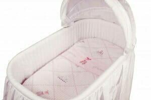 Amani Bebe Raspberry Garden 3pce Bassinet Sheet Set