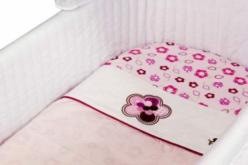 Amani Bebe Raspberry Garden Bassinet Sheet Set