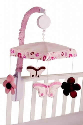 Amani Bebe Raspberry Garden Cot Mobile