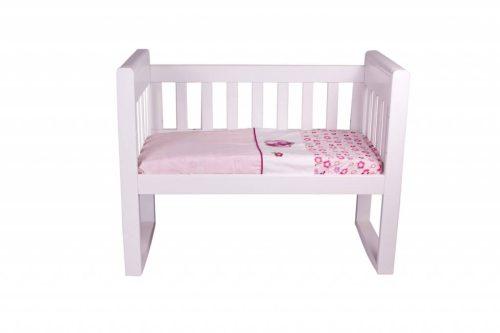 Amani Bebe Raspberry Garden Cradle Sheet Set