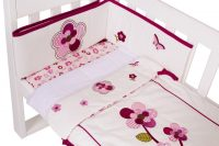 Amani Bebe Raspberry Garden 3 Piece Cradle Set