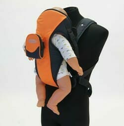 babyhood Easy Fit Secure Carrier Orange