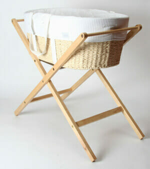 Born With Style Moses Basket With Stand Bubs N Grubs