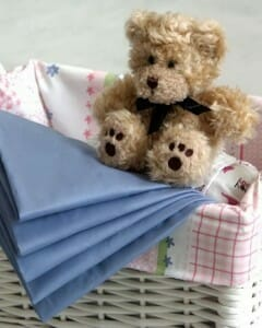 Amby Fitted Sheets Blue