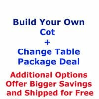 Build Your Own Cot and Change Table Package Deal