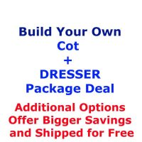 Build Your Own Cot and Dresser Package Deal