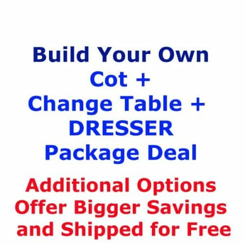Build Your Own Cot, Change Table and Dresser Package Deal