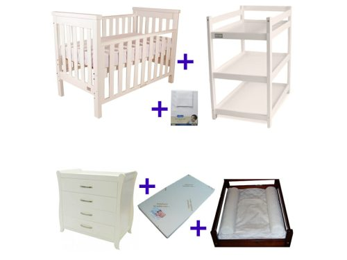 Babyhood Milano Cot 6 Pce Package Deal White No Text