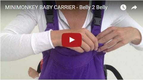 Mini Monkey Baby Carrier Belly 2 Belly Video Review
