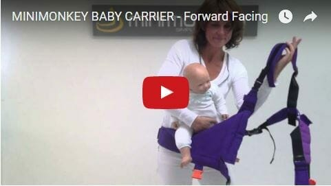 Mini Monkey Baby Carrier Forward Facing Video Review