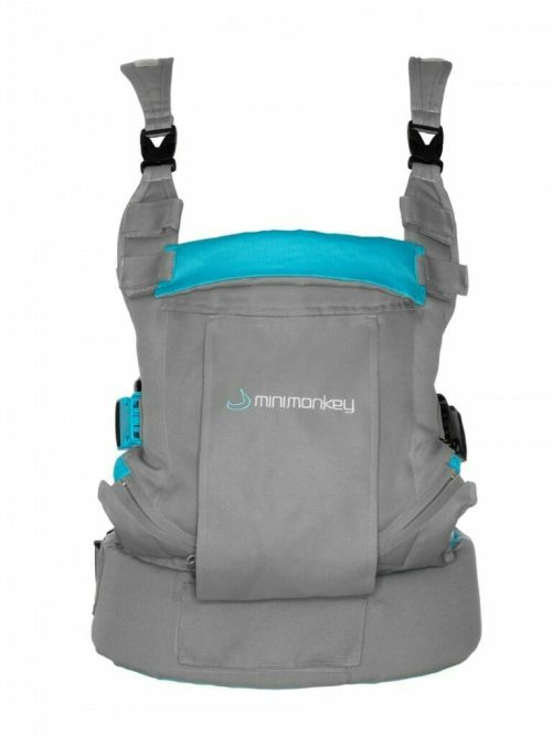 Minimonkey Dynamic baby carrier Grey with Turquoise