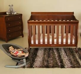 Babyhood Amani Sleigh Cot 5 Piece Package Deal with Dresser