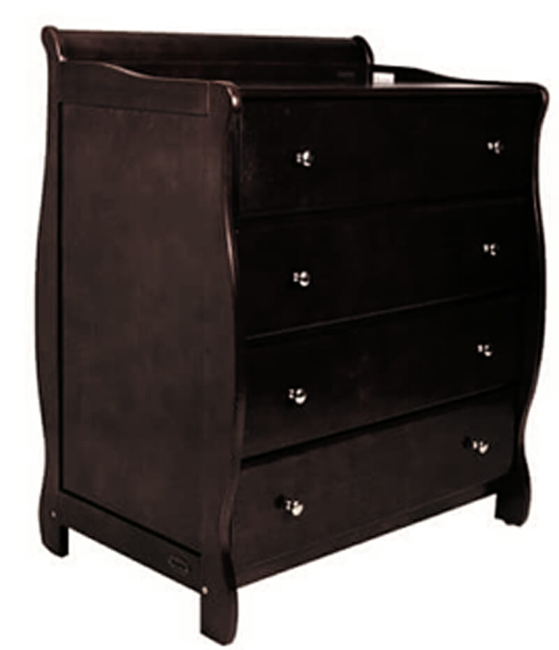 babyhood Sleigh Chest English Oak