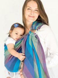 Hug A Bub Traditional Ring Sling Bondi Blue