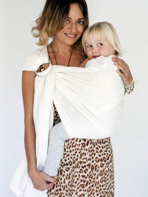 Hug a Bubs Ring Sling - Organic Cotton Mesh Carrier Cream