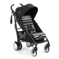 Joie Brisk LX Stroller Barcode Stripe Right Angle