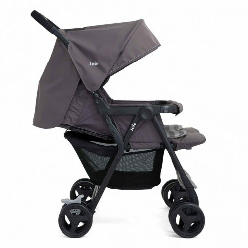 Joie Aire Twin Dark Pewter Full Layback Side View