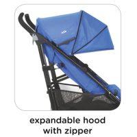 Joie Brisk LX Stroller Royal Blue Expandable Hood