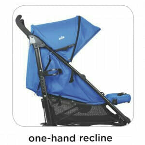 Joie Brisk LX Stroller Royal Blue One Hand Recline