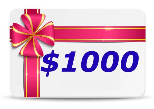 1000 Dollar Bubs n Grubs Gift Certificate