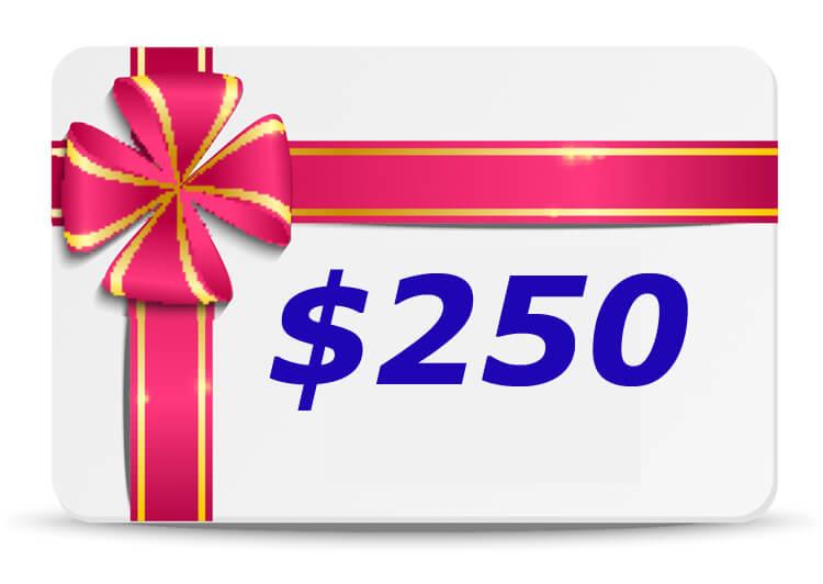250 Dollar Bubs n Grubs Gift Certificate