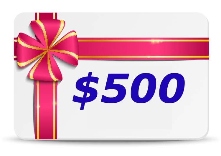 500 Dollar Bubs n Grubs Gift Certificate
