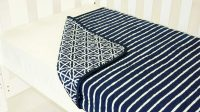 Amani Bebe Breezy Blue Coverlet Navy White Side A