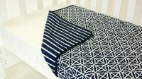 Amani Bebe Breezy Blue Coverlet Navy White Side B