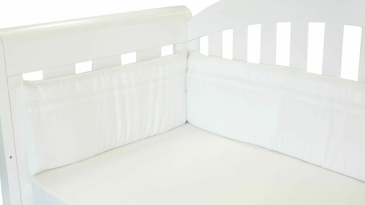 Amani Bebe Classic White Cot Bumper
