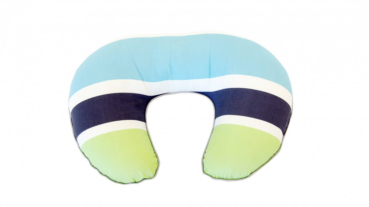 Amani Bebe Summer Stripe Nursing Pillow Side A