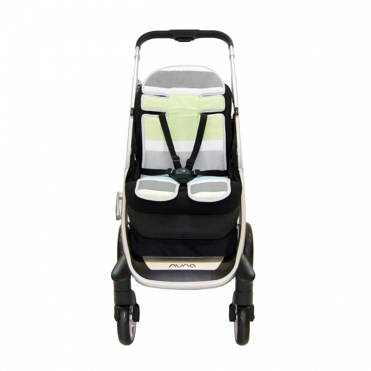 Amani Bebe Summer Stripe Stroller Liner Side A