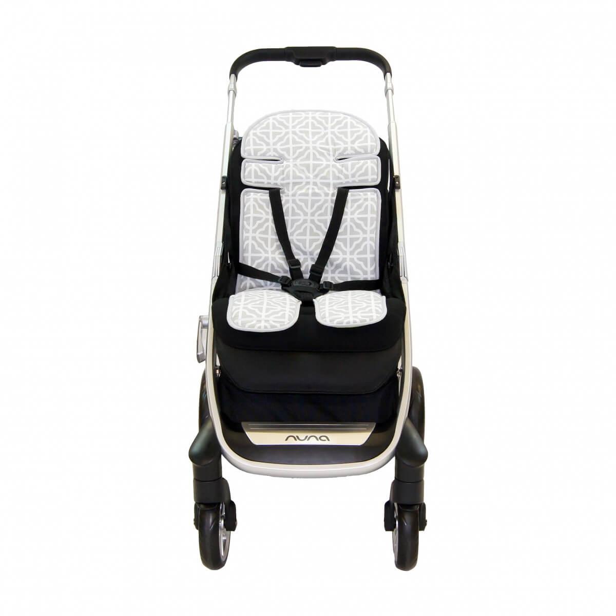 Amani Bebe Summer Stripe Stroller Liner Side B